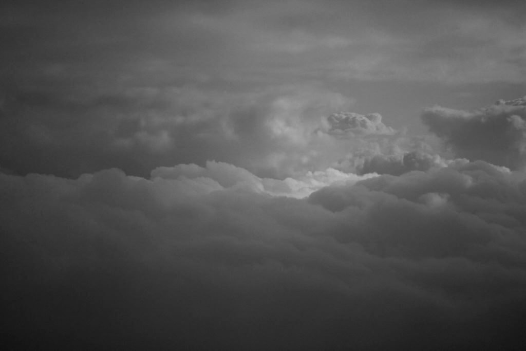 Switzerland clouds black and white fine art photography