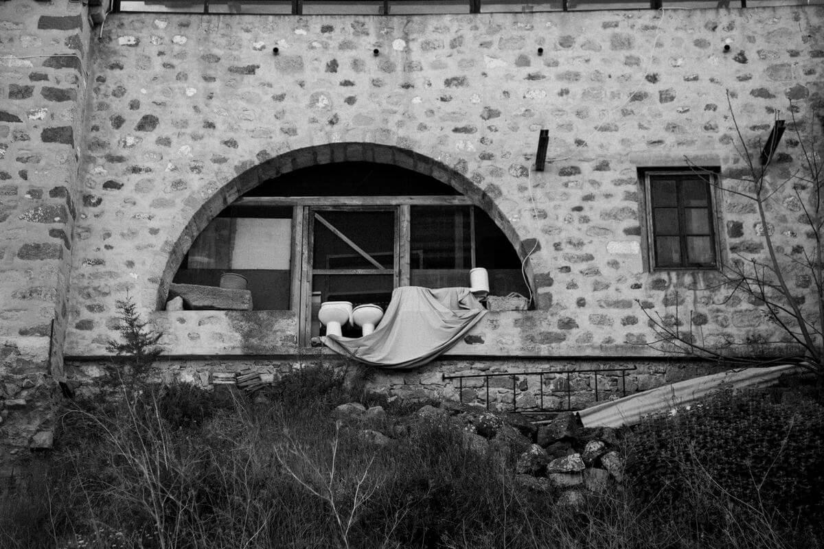 Patmos Greece Toilet Landscape