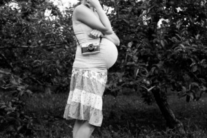 Pregnant Self Portrait Laura Schneider