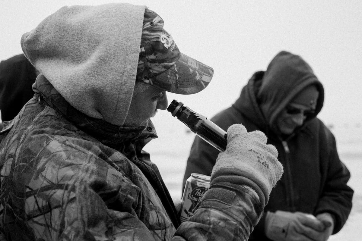 Lake-Winnebago-sturgeon-spearing-Fond-du-Lac-Wisconsin-black-and-white-fine-art-photography-by-Studio-L-photographer-Laura-Schneider-_0089